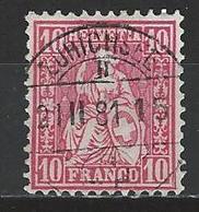 SBK 38, Mi 30 O Zürichsee - 1862-1881 Sitzende Helvetia (gezähnt)