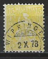 SBK 39, Mi 31 O Wipkingen - 1862-1881 Sitzende Helvetia (gezähnt)