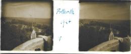 Plaque De Verre Stéréoscopique Positive - Année 1947 - Folleville - Vue Sur L'Église - Diapositiva Su Vetro
