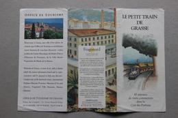 Le Petit Train De Grasse (Alpes-Maritimes) (Fragonard Parfumeur) - Dépliants Touristiques