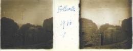 Plaque De Verre Stéréoscopique Positive - Année 1947 - Folleville - Vue Des Ruines - Diapositiva Su Vetro