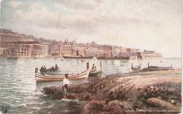 """""""Malta. The Grand Harbour"""" Tuck Oilette Wide-wide-world Series PC # 7091 - Quinton, AR"""