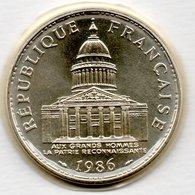 Panthéon  -  100 Francs 1986   -  état FDC  - Scellée - France