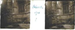 Plaque De Verre Stéréoscopique Positive - Année 1947 - Folleville - L'Église - Diapositiva Su Vetro