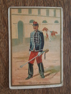 Chromo - Cavalier De Remonte, Uniforme, Sabre, Képi, Soldat, Militaire - Chicorée C. Beriot à Lille - Sonstige
