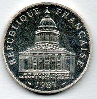 Panthéon  -  100 Francs 1987   -  état SPL  - - France