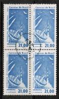 BRAZIL  Scott # 953 VF USED BLOCK Of 4 (Stamp Scan # 481) - Brazil