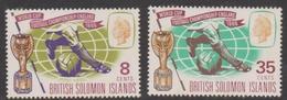British Solomon Islands SG 153-154 1966 World Cup Football Championship, Mint Never Hinged - British Solomon Islands (...-1978)
