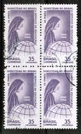 BRAZIL  Scott # C 109 VF USED BLOCK Of 4 (Stamp Scan # 481) - Brazil