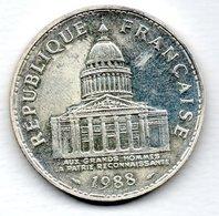 Panthéon  -  100 Francs 1988   -  état SUP  - - N. 100 Francs