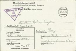 Correspondance Des Prisonniers De Guerre STALAG IV A    1941 - Marcophilie