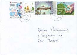 Macedonia 14.09.2017 FD Stamp Charity Red Cross Tuberculosis And Stamp Vegetables 2016 & 2009 Fishes & 2008 Environment - Macédoine