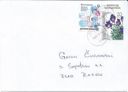 Macedonia 14.09.2017 FD Stamp Charity Red Cross Tuberculosis And Stamp 2003 Flora Of Macedonia - Macédoine
