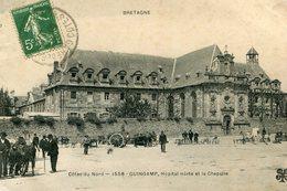 GUINGAMP - Hôpital Mixte Et La Chapelle Matériel Agricole En Vente - Guingamp