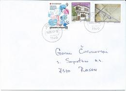 Macedonia 14.09.2017 FD Stamp Charity Red Cross Tuberculosis And Stamps 1998 Rural House & Pythagoras - Macédoine