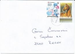 Macedonia 14.09.2017 FD Stamp Charity Red Cross Tuberculosis And Stamps 2009 Horses - Macédoine