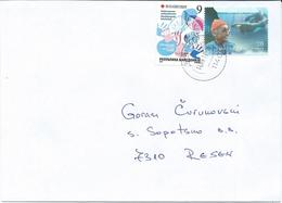 Macedonia 14.09.2017 FD Stamp Charity Red Cross Tuberculosis And Stamps - 2010 Jacques Cousteau, Explorer,dolphins - Macédoine