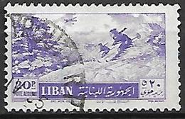 LIBAN    -    Aéro   -   Ski Aux Cédres.  Oblitéré. - Líbano
