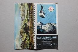Innsbruck, Igls (Autriche), Téléphérique Du Patscherkofel, 1953 - Dépliants Touristiques