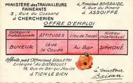 Ministère Des Faineants Pinard Vin Alcoolisme Bistrot - Humour