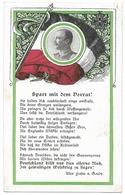 Portrait Du Roi De Saxe Avec Drapeau Et Croix De Fer   - WWI - Personaggi