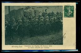 CPA  WERVICQ SUD   INVENTAIRE DE L EGLISE 20 NOVEMBRE 1906  LA FOULE REFOULEE PAR L ARMEE  W31 - France