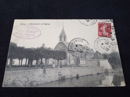 Ancienne Carte Postale Cpa Rare Velizy L'abreuvoir Et L'église Restaurant Dumont - Velizy