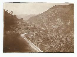 Photographie 06 Vallée De La Bevera Vers Peira Cava 1932  Photo 5,8x8,5 Cm Env - Luoghi