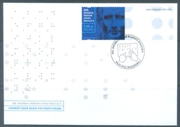POLAND -  FDC  - 4.1.2009 - BRAILLE - Yv 4139  - Lot 19361 - FDC