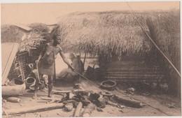 CONGO BELGE  - FABRICATION DU SEL CHEZ LES  BASAKATA  - NELS - - Congo Belga - Altri