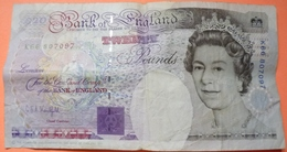 BILLET ENGLAND TWENTY POUNDS 1991 - SCANS RECTO VERSO - 1952-… : Elizabeth II