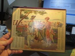 """SUPERBE CALENDRIER 1921 """""""" Le Boulevard Au Bord De La Mer """""""",voir Tous Les Scans   26 X 21 Environ - Big : 1921-40"""
