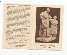 Calendrier ,petit Format , 1937, SAINT JEAN BOSCO ,oeuvres Et Missions, 4 Pages, 2 Scans - Calendars