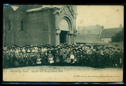 CPA  WERVICQ SUD   DEPART DES RELIGIEUSES 1904  W31 - France