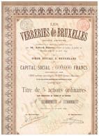 Titre Ancien - Les Verreries De Bruxelles Société Anonyme - Titre De 1899 - Industrie