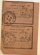 Trésor Et Postes *3* - 1924 Sur Récépissé De Mandat - Occupation De La Rhur Rhénanie Allemagne - Marcophilie (Lettres)
