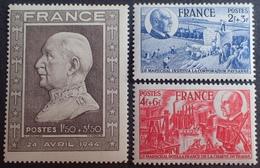 FD/3025 - 1944 - PETAIN - N°606 NEUF** + N°607 à 608 NEUFS* - France
