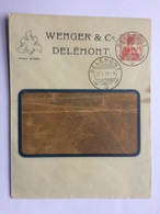 SWITZERLAND 1911 Cover Delemont To Solothurn - Suisse