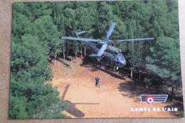 PUMA - Flotte Hélicoptère De La FAP - Exercice De Sauvetage - ( Avion Aviation Armée De L'Air ) - Elicotteri