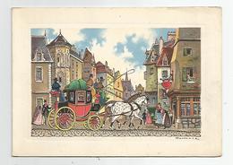 Cpm Barre Et Dayez Bd 13341 A , Illustrateur Frontenac Scène Diligence Carte Double - Illustratoren & Fotografen