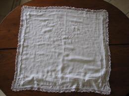 229 - Taie D'oreiller 75 X 75 En Coton Ou Lin Monogrammée SB - Bed Sheets
