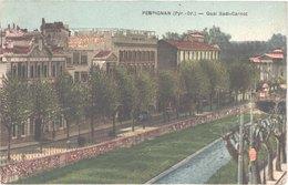 FR66 PERPIGNAN - Capponi - Colorisée - Quai Sadi Carnot - Tampon CAMP DE RIVESALTES Verso - Belle - Perpignan