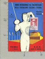 CARTOLINA NV ITALIA - Torneo Internazionale Cinquantenario Federazione Italiana Scherma - 10 X 15 - PRAMPOLINI  1959 - Manifestazioni