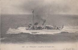 """Bâteaux - Marine De Guerre - Torpilleur De Haute-mer """"le Flibustier"""" - Editeur Bougault 543 - Guerra"""