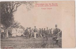 CONGO BELGE  - ENTERREMENT CHEZ LES BACOTJE - CONGO LITORAL - Congo Belge - Autres