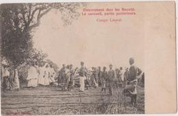 CONGO BELGE  - ENTERREMENT CHEZ LES BACOTJE - CONGO LITORAL - Congo Belga - Altri