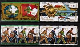 BURUNDI  Scott # 460-3,C 199-202** VF MINT NH SE TENNANT PAIRS (Stamp Scan # 482) - Burundi