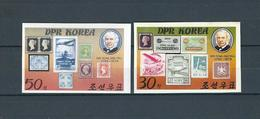 NORTH KOREA, 1980, Sir Rowland Hill Death Centenary 2v Imperforated  MNH - Corea Del Norte