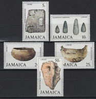 Jamaica (1979) Yv. 460/64  /  Prehistory - Archaeologie - Prehistoric - Fauna - Fossil - Prehistorie