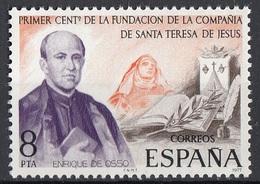 Spagna 1977 Sc. 2044 Enrique De Osso Presbitero Fondatore Compagnia Di Santa Teresa Di Gesù Spain Espana - Cristianesimo